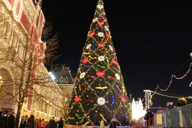 Новогоднее путешествие по Москве